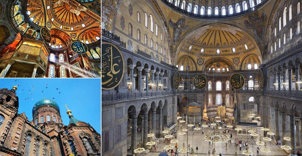 微型欧式钟教堂楼图片